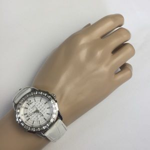Guess White Leather Bracelet Watch